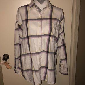 Old Navy Plaid Boyfriend Button-down Shirt